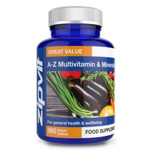 Zipvit A-Z Multivitamins and Minerals (360 Tablets) Image 1