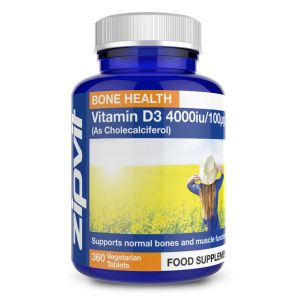 Vitamin D3 4000iu (360 Tablets)