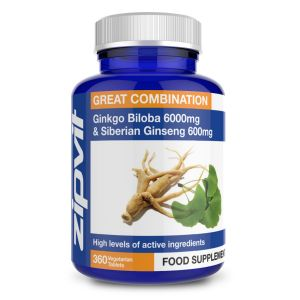 Ginkgo Biloba 6000mg and Siberian Ginseng 600mg