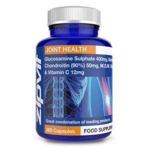 Glucosamine 400mg, Marine Chondroitin 50mg (90%) and MSM 50mg + Vitamin C