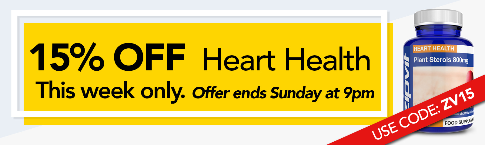 Save 15% on Heart Health supplements this week