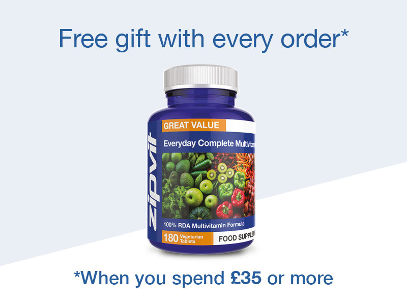 Free gift with every order over £35