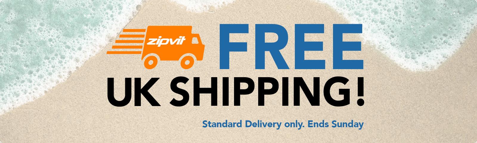 Free standard UK shipping this week