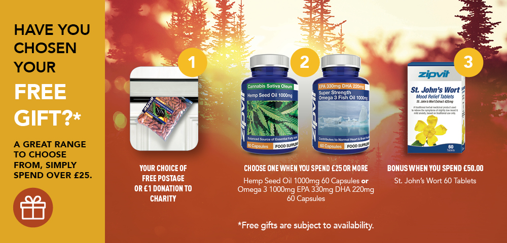 Free gifts when you spend over £25