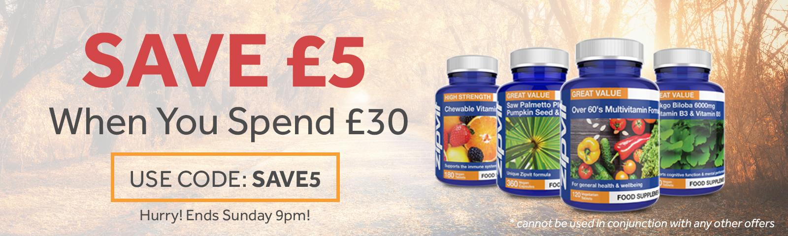 Save £5 this week
