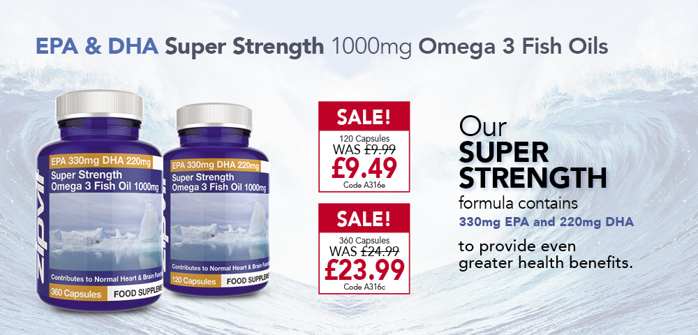 Super Strength Omega 3 Fish Oil