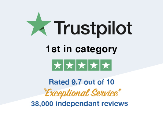 1st In Our Category On Trustpilot