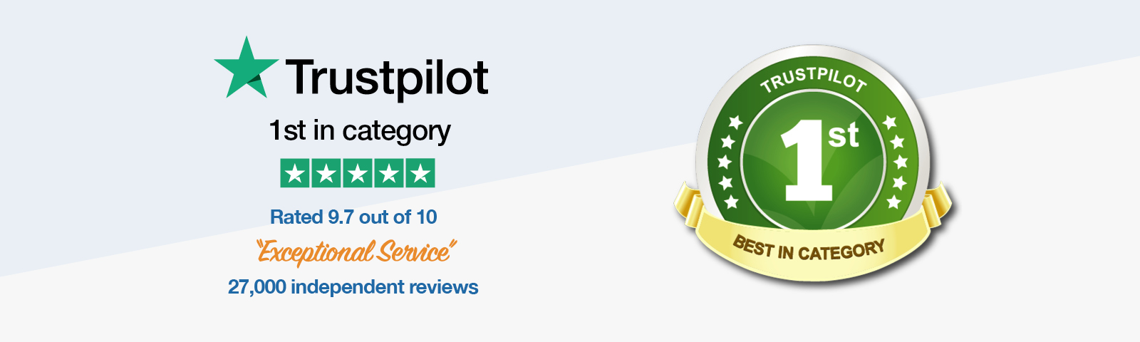 Trustpilot first in category