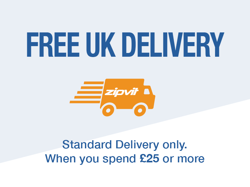 Free gifts available with every order over £25