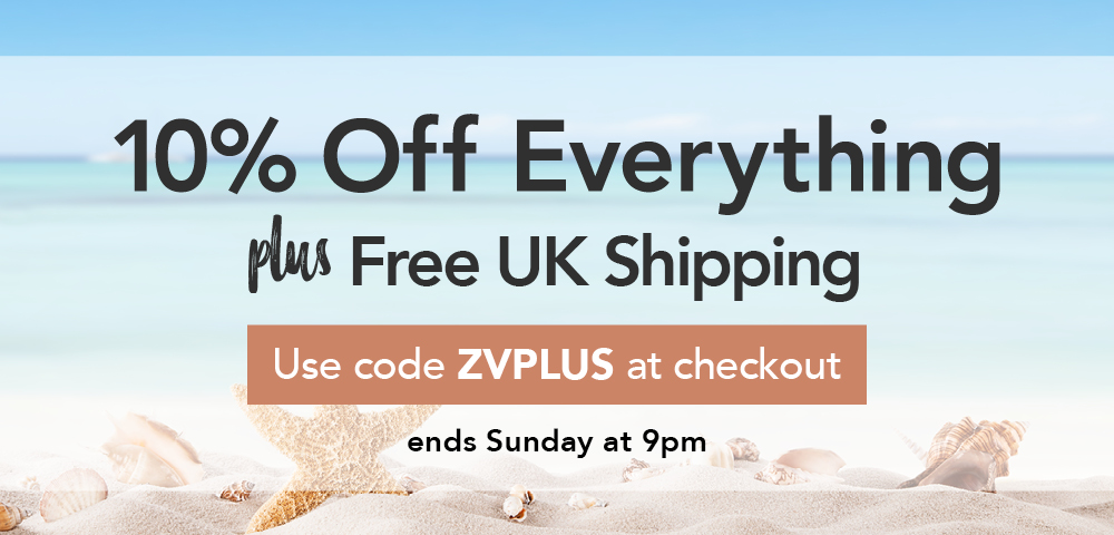 Save 10% and get free standard UK shipping this week