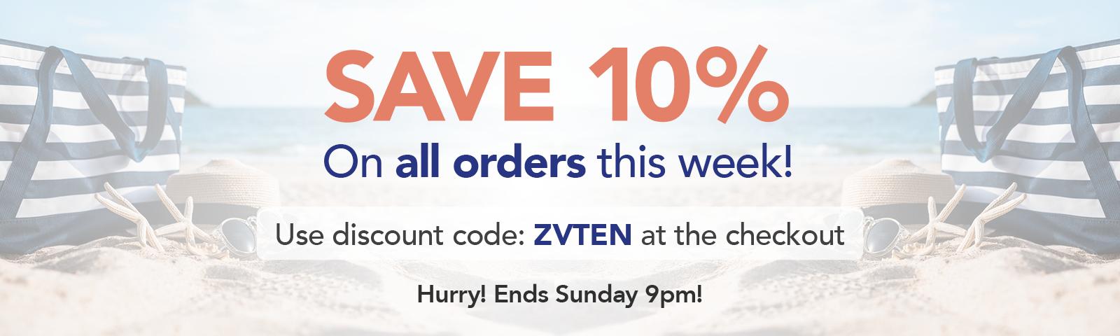 Save 10% this week